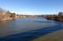 The view over Nidelva, from the bridge between Ila and Trondheim Spektrum.