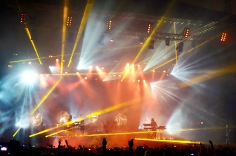 Light show at Highasakite