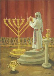 Lighting of the menorah