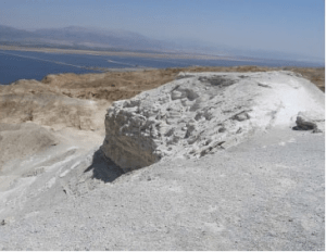 rock salt at the peak of Mount Sodom