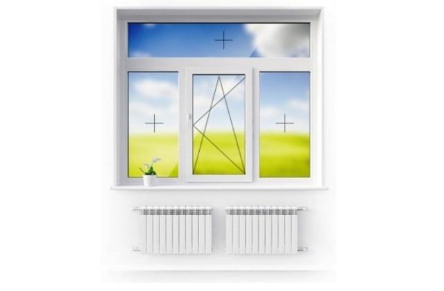 Окно 3-х створчатое