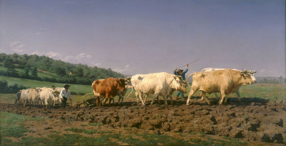 Rosa Bonheur - Ploughing in Nevers, 1849