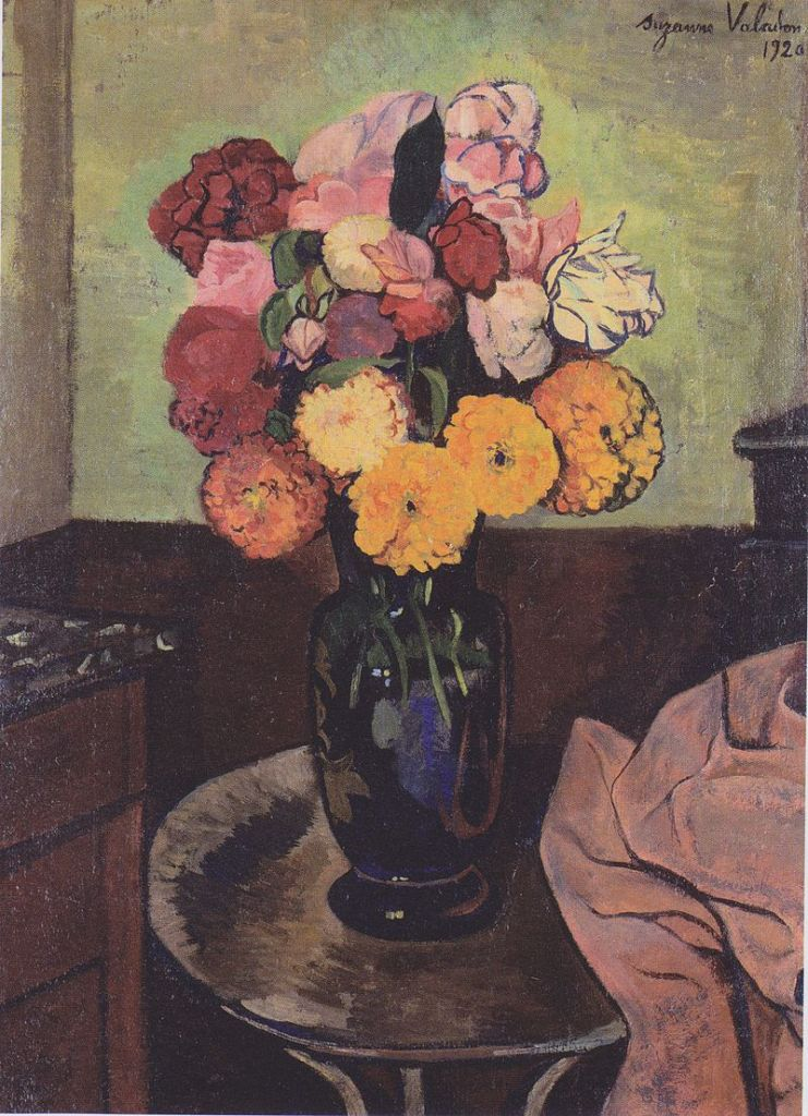 Flowers on a Round Table, 1920
