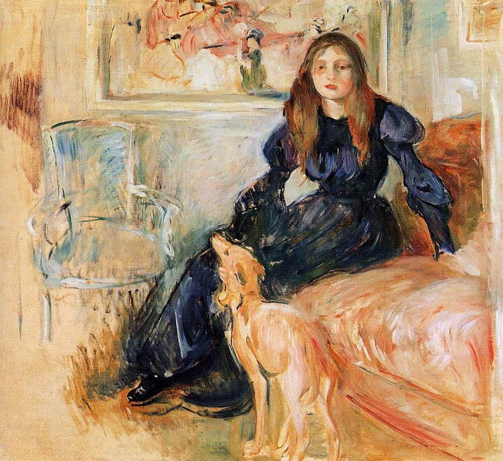 Berthe Morisot - Girl with Greyhound - 1893