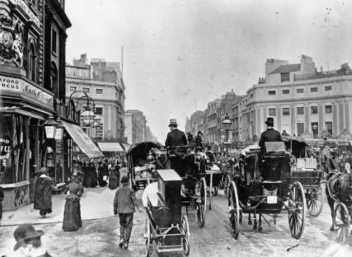 Traffic on Regent Circus