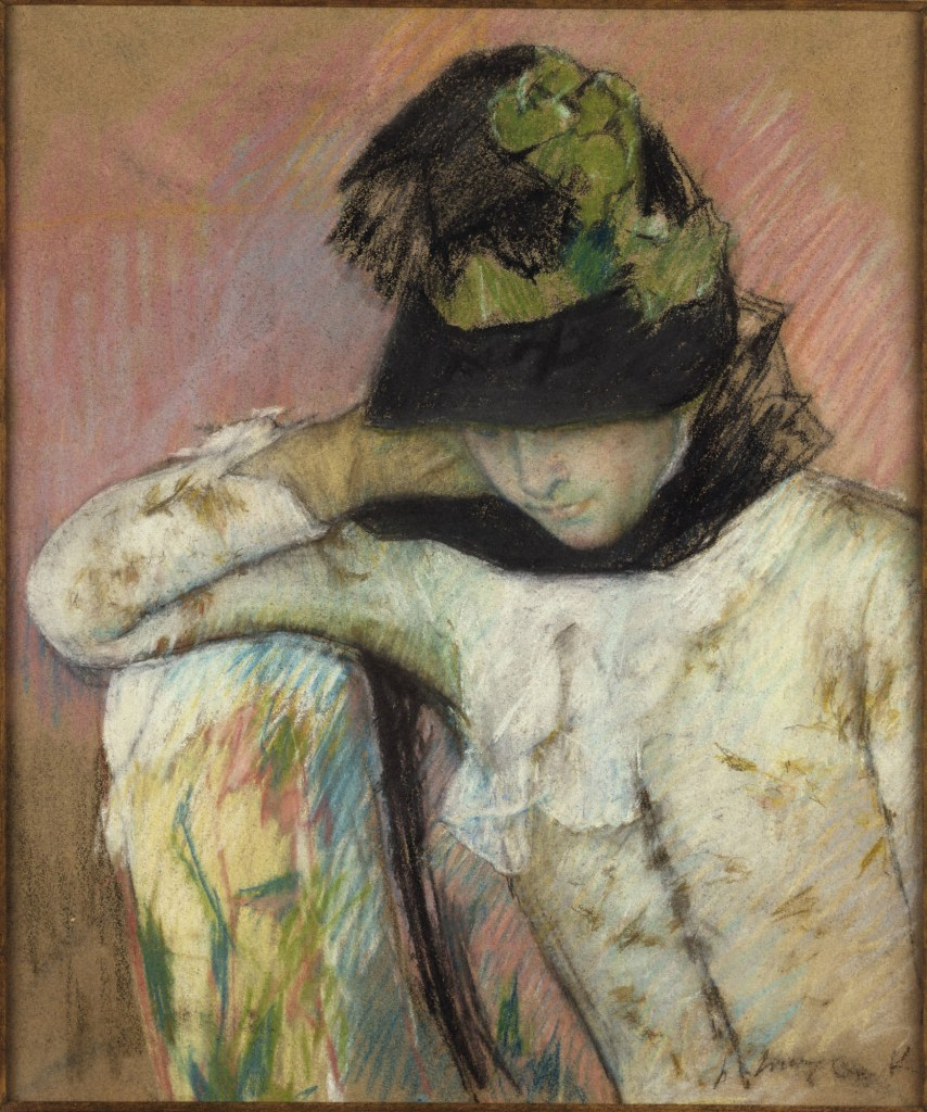 Mary Cassatt - Young Woman in a Black and Green Bonnet, 1890