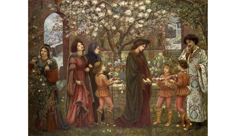 Marie Spartali Stillman - The Enchanted Garden Of Messer Ansaldo, 1889