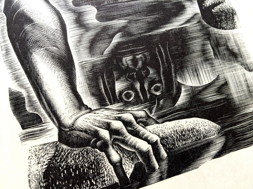Frankenstein - Lynd Ward illustration