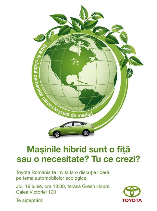 Toyota Prius - invitatie pentru bloggeri