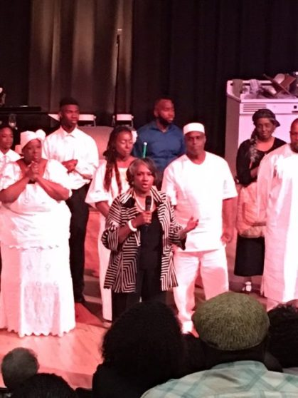 """Curtain Call after Friday's Performance of """"Heavy is the Rain - the Play"""""""