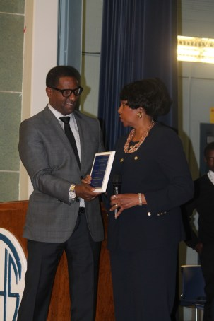 Induction in the Carver High School Hall of Fame, April 7, 2014
