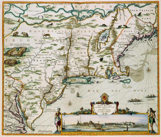 New Netherlands. Map by Nicolaes Visscher II (1649-1702)