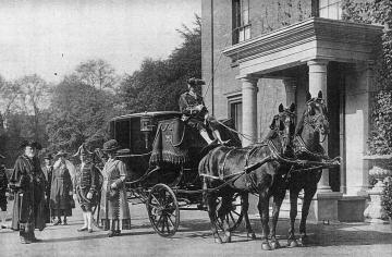 George Green and Mayor setting out in the carriage of his office.