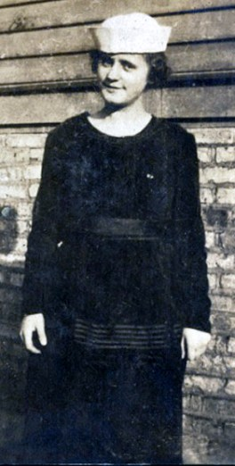 Evelyn Bick Ennis, about 18