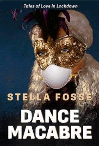 Book Cover with masked woman titled Dance Macabre