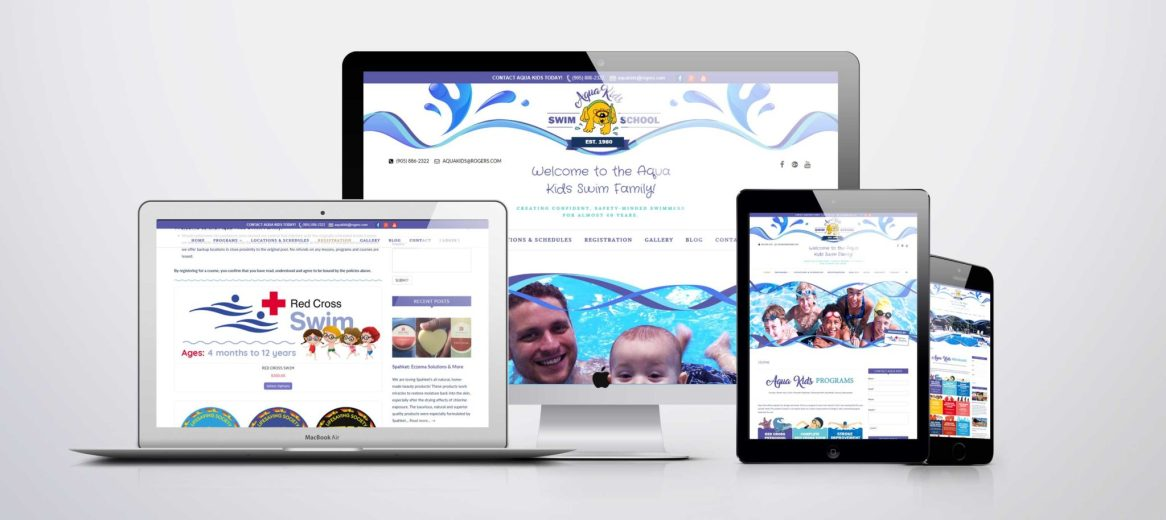 Branding & Web Design - Aqua Kids Swim School - Branding + Website Design/Development