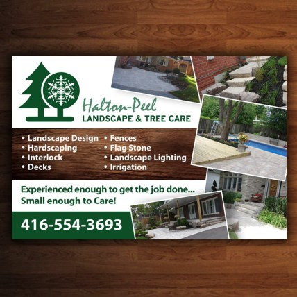 Logo & Postcard Design - Halton Peel Landscape & Tree Care