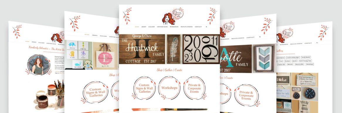 Website Design - Glowing Ginger Signs