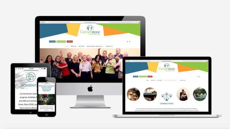 Cornerstone to Recovery Branding and Website Design