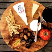 Round, Wooden Teak Cheese Board, House Warming Gifts, Engagement Presents
