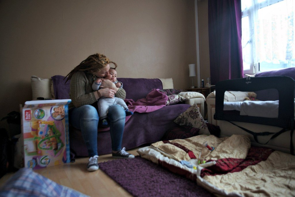 """Samantha was offered two hostel rooms by Newham council but she says that she 'had to run away"""" as the rooms were """"filthy to the point that the bed had unwashed and stained covers, broken wardrobe and mould everywhere. The kitchen containing a single stove was serving 23 families. It had no fridge and no cupboards and was dirty""""."""