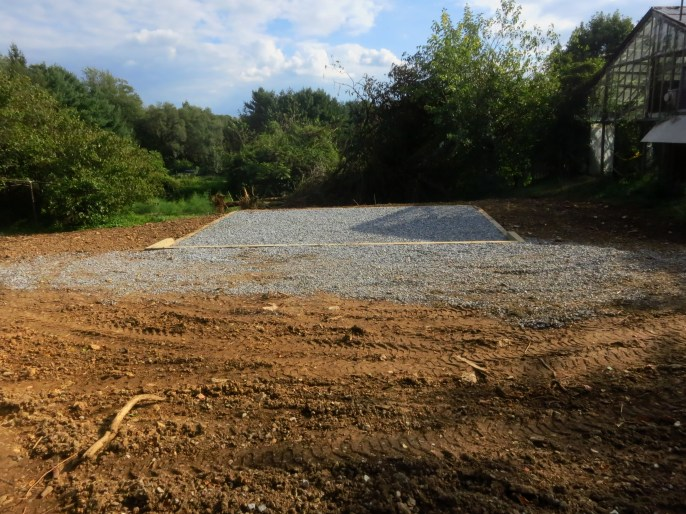 Gravel pad and base for J's new office