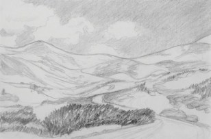 Ridge between Mt. Sheridan and Mt. Sherman
