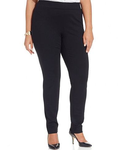 plus-size ponte knit pants, INC, Macy's
