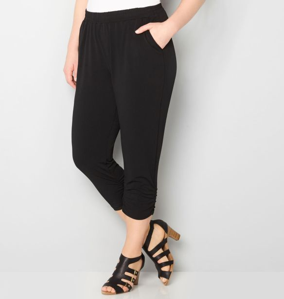 Avenue ruched crepe capri, $45