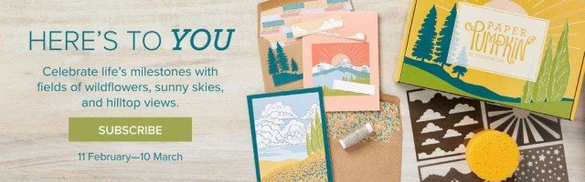 Here's to You! Our March Paper Pumpkin kit – subscribe before March 10