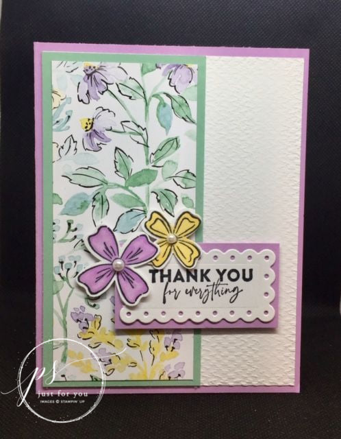 Soft and pretty Flowers of Friendship by Stampin' Up!