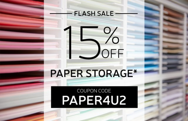 Flash sale at Stamp-n-Storage! Today and tomorrow only.