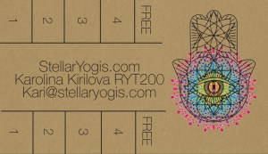 Stellar Yogis Hickory Hills Buy 4 Classes Get the 5th Free Punch Card
