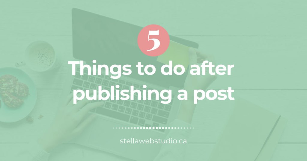 How to promote a post after publishing it