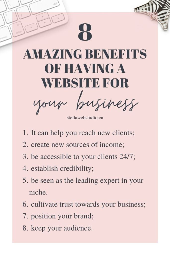 What are the benefits of having a website for my business