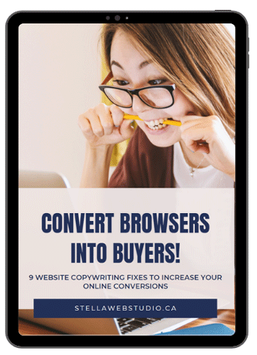How to Increase Your Conversions with 9 Copywriting Tactics FREE Guide by Stella Web Studio Montreal