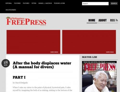 Philippines Free Press using a generic WordPress theme