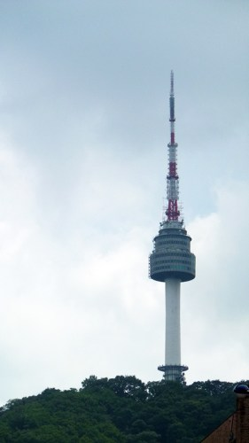 Myeongdong: view of N Seoul Tower