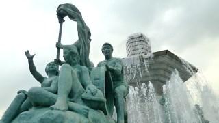Myeongdong: fountain