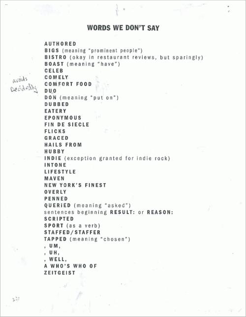 Words We Don't Say by Kurt Andersen