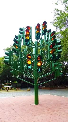 Samphran traffic light installation