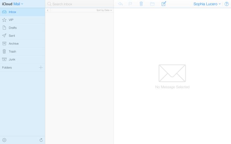 Inbox zero: iCloud with iOS7 look