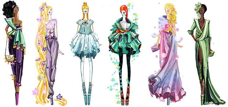 Disney goes fashion II by Sashiiko-Anti