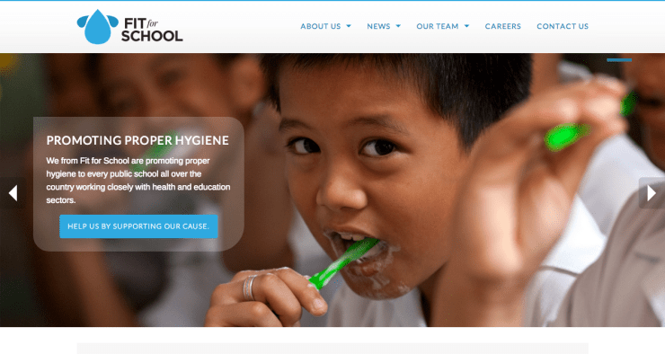 Fit for School website by Osom Awesome