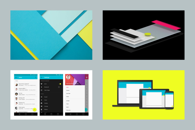 Material Design on screen and on paper