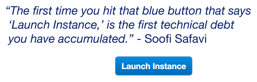 launch instance quote and button