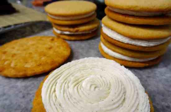 Malted Milk Sandwich Cookies 7