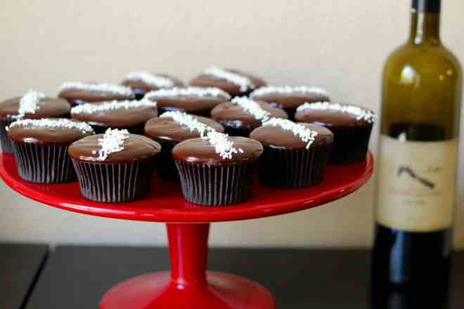 Red Wine Chocolate Cupcakes - 5