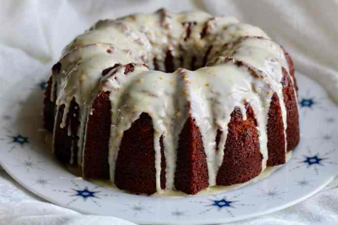 Apple Orange Rye Honey Cake - 17