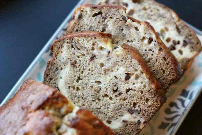 Choc Chip Cheesecake Banana Bread - 16
